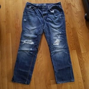 Ann Taylor Loft Distressed Boyfriend Jeans 12